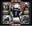 Custom San Diego Chargers  Action Print Framed and Personalized