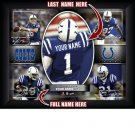 Custom Indianapolis Colts  Action Print Framed and Personalized