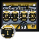 Boston Bruins Framed Custom Jersey Print With Your Name