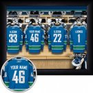 Vancouver Canucks Framed Custom Jersey Print With Your Name