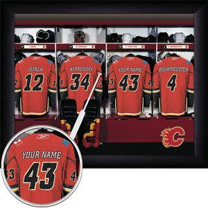 Calgary Flames Framed Custom Jersey Print With Your Name