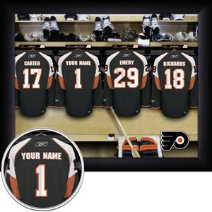 Philadelphia Flyers Framed Custom Jersey Print With Your Name