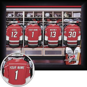 Carolina Hurricanes Framed Custom Jersey Print With Your Name