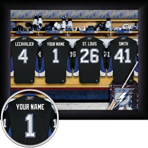 Tampa Bay Lightning Framed Custom Jersey Print With Your Name