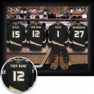 Anaheim Ducks Framed Custom Jersey Print With Your Name