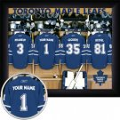 Toronto Maple Leafs Framed Custom Jersey Print With Your Name