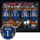 Edmonton Oilers Framed Custom Jersey Print With Your Name