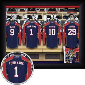 Florida Panthers Framed Custom Jersey Print With Your Name