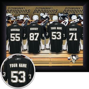 Pittsburgh Penguins Framed Custom Jersey Print With Your Name
