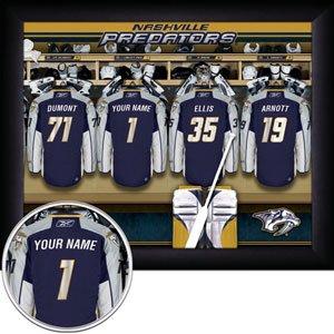 Nashville Predators Framed Custom Jersey Print With Your Name