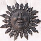 Cast Iron Sun Face Wall Sculpture