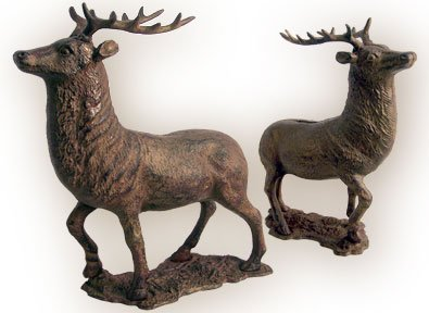 Cast Iron Elk Deer Bank