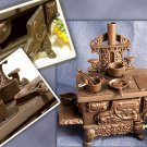 "Cast Iron ""Cresent"" Toy Stove Reproduction"