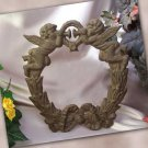 Cast Iron Cherub Angel Wreath
