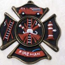 Cast Iron Fireman Wall Plaque