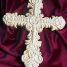 Cast Iron White Antiqued Cross