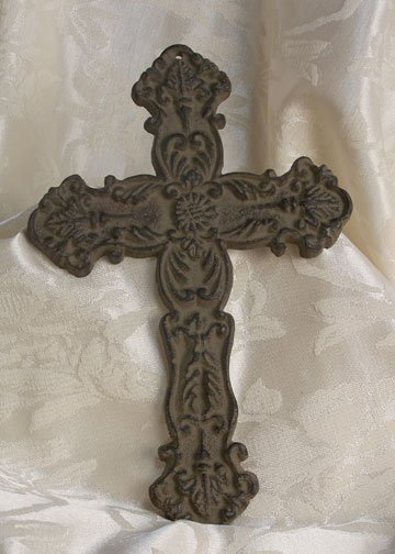 Cast Iron Antiqued Cross