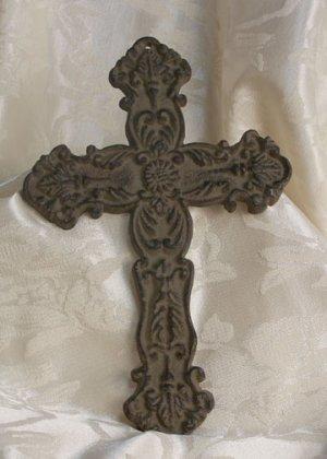Cast Iron Antiqued Cross