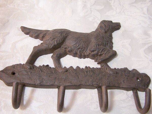 Cast Iron Pointer Dog Key Rack