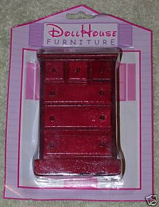 Dollhouse Furniture Vertical Clothes Dresser NIP