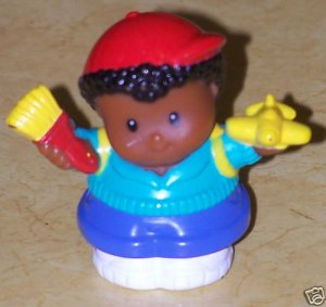 Fisher Price Little People African American Black Boy