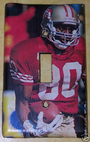 Jerry Rice San Francisco 49ers Lightswitch Plate Cover