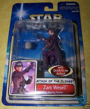 Star Wars Attack of the Clones Zam Wesell - NEW