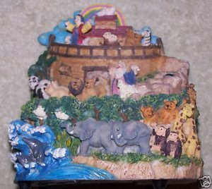 Noah's Ark Waterfall Music Box Figurine