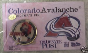 Peter Forsberg Colorado Avalanche Collector Pin - NEW