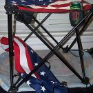 U.S.A. Flag Camping Table 2 cup holders & tie downs
