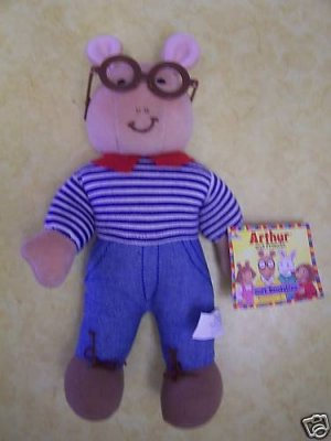 Arthur and Friends Plush Soft Bendables 1998 NWT