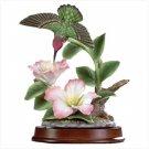Porcelain Hummingbird And Blossoms