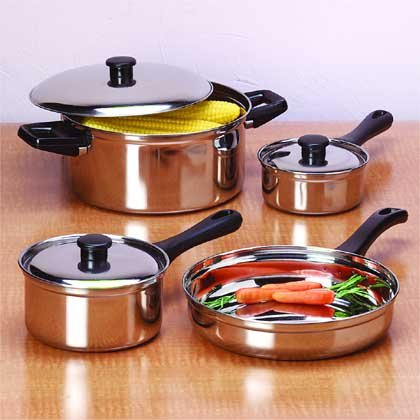 7PC STAINLESS STEEL COOKWARE