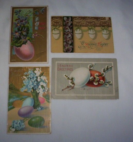 Easter Postcards lot of 4 E11