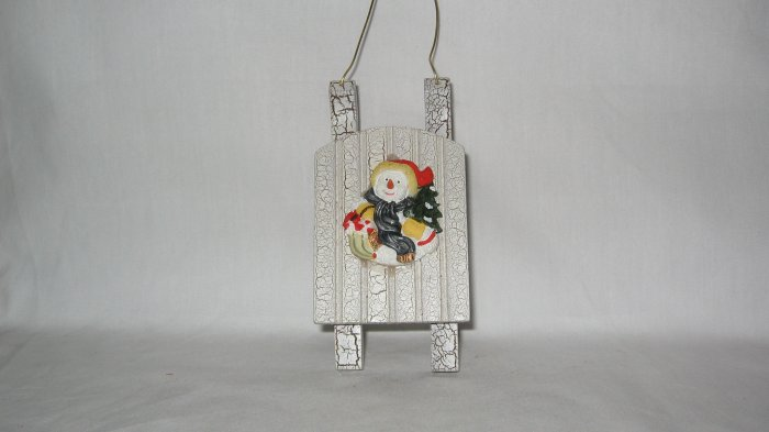 Christmas Snow Sled Ornament
