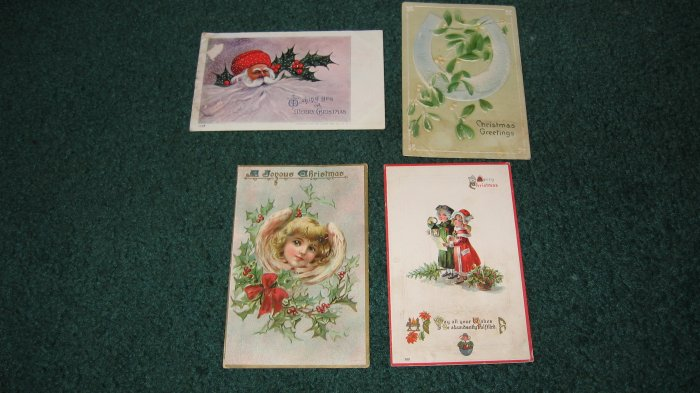 Lot of 4 Christmas Postcards Lot c 10