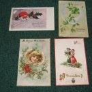 Lot of 4 Christmas Postcards Lot c 10