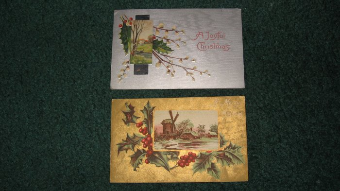 A Merry and A Joyful Christmas Postcards lot  c13