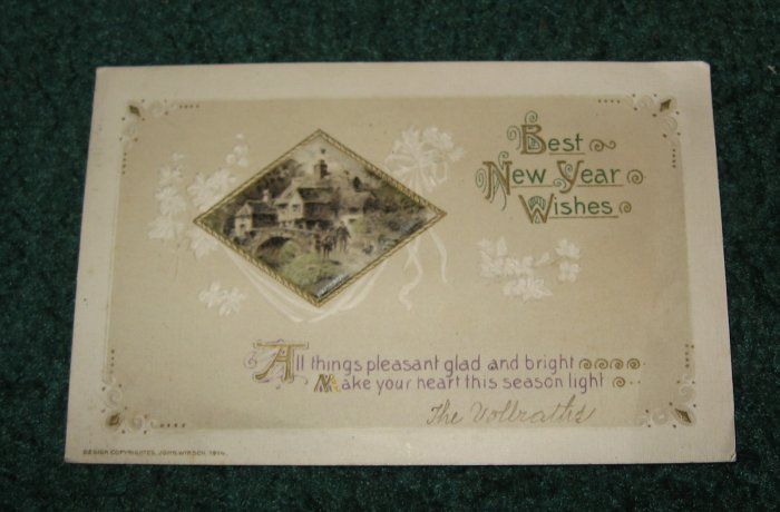 Best New Year Wishes Postcard  ny1