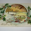Raphael Tuck & Sons Merry Christmas Greetings Christmas Postcard