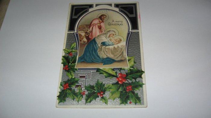 A Merry Christmas Mary, Joseph & Jesus Postcard lot #19