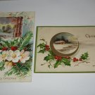 2 Christmas Postcards printed in Germany lot  c25