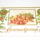 Christmas Greetings Dogs embossed postcard lot  c31