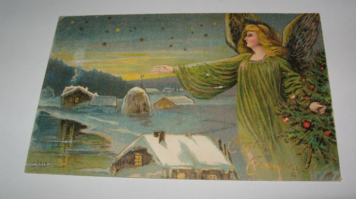Christmas Greetings Angel Postcard lot  c32