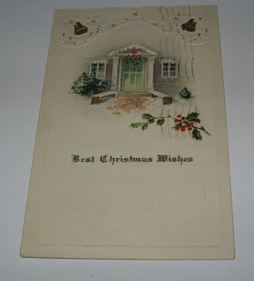 Best Christmas Wishes embossed postcard lot  c40
