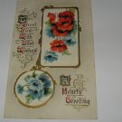 To Greet You Christmas embossed postcard lot c45