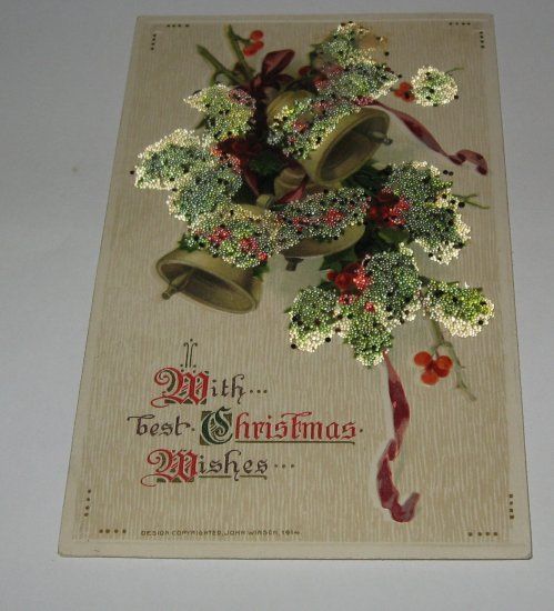 With Best Christmas Wishes Winsch postcard lot c46