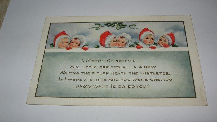 6 Little Sprites Christmas Postcard lot  c 47