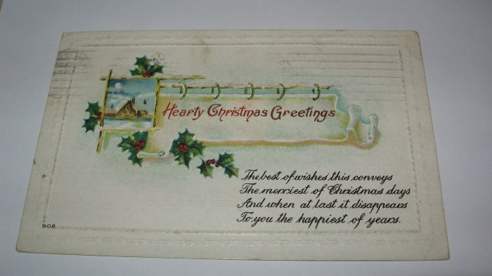 Hearty Christmas Greetings Christmas Postcard lot  C48