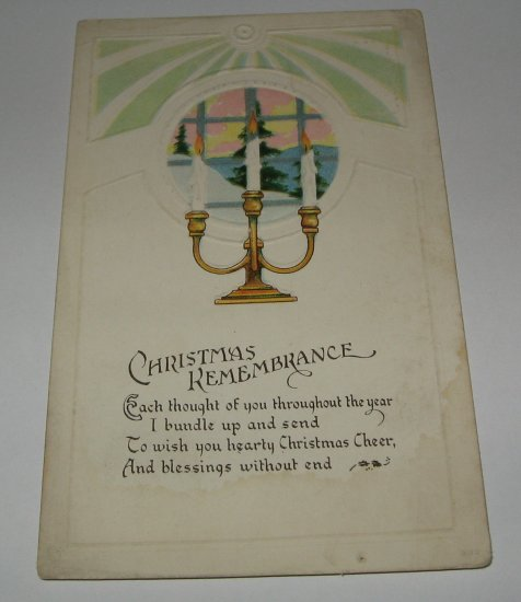 Christmas Remembrance embossed Christmas postcard lot  C49